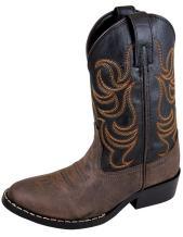 Smoky Mountain Boys' Snake Print Cowboy Boot Round Toe …