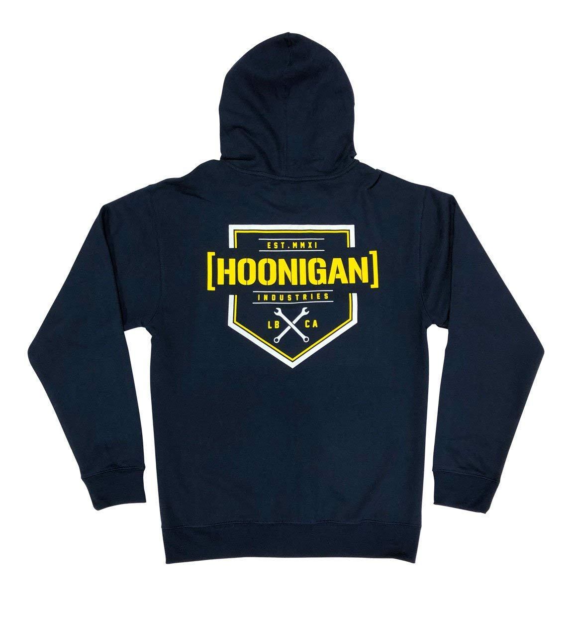 Hoonigan Bracket X Zip Hoodie | Perfect for Car and Drifting Enthusiasts, Mechanics and Gear Heads | Available in Small to 3X