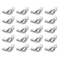 uxcell M6 Wing Nuts, Carbon Steel Zinc Plated Fasteners Parts Hurrican Screws Hand Twist Tighten Ear Butterfly Nut, 20pcs