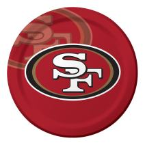 Creative Converting Officially Licensed NFL Dinner Paper Plates, 96-Count, San Francisco 49ers