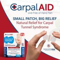 CarpalAID – Clinically Proven to Naturally Relieve Symptoms of Carpal Tunnel Syndrome Without Surgery, or Wrist Braces and No Side Effects (Large, 12)