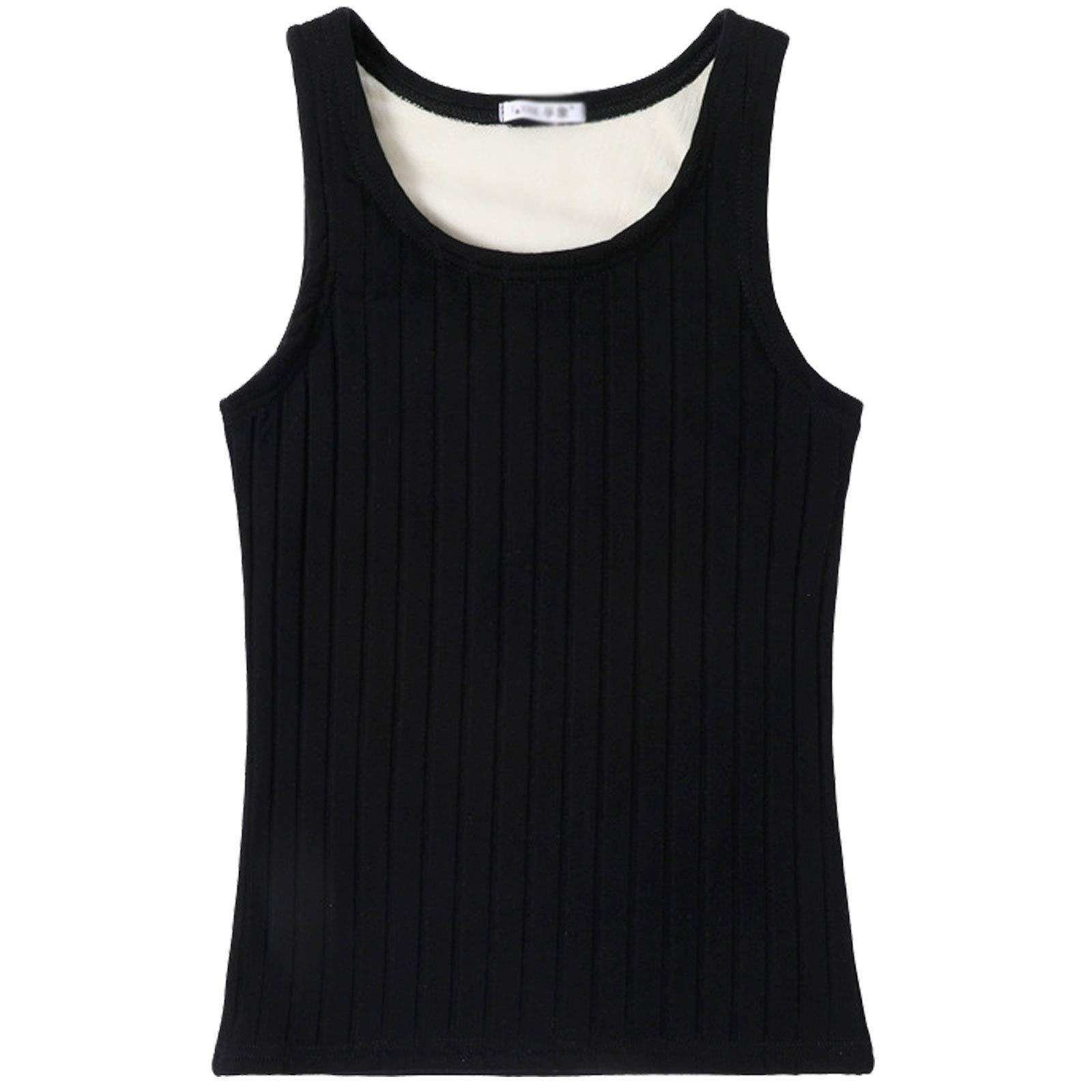 Flygo Women's Fleece Lined Tank Top Thermal Skinny Underwear Tops