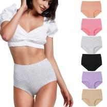 YaShaer Women Underwear Postpartum for Women High Waist Panties C Section Full Coverage Cotton Brief for Women Multipack