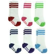 Baby Knee High Socks, Colorfox Toddler Novelty Striped Tube Socks for 6-24 Months