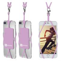 Gear Beast Universal Cell Phone Lanyard Compatible with iPhone, Galaxy & Most Smartphones Includes Phone Case Holder with Card Pocket, Silicone Neck Strap (3 Pack