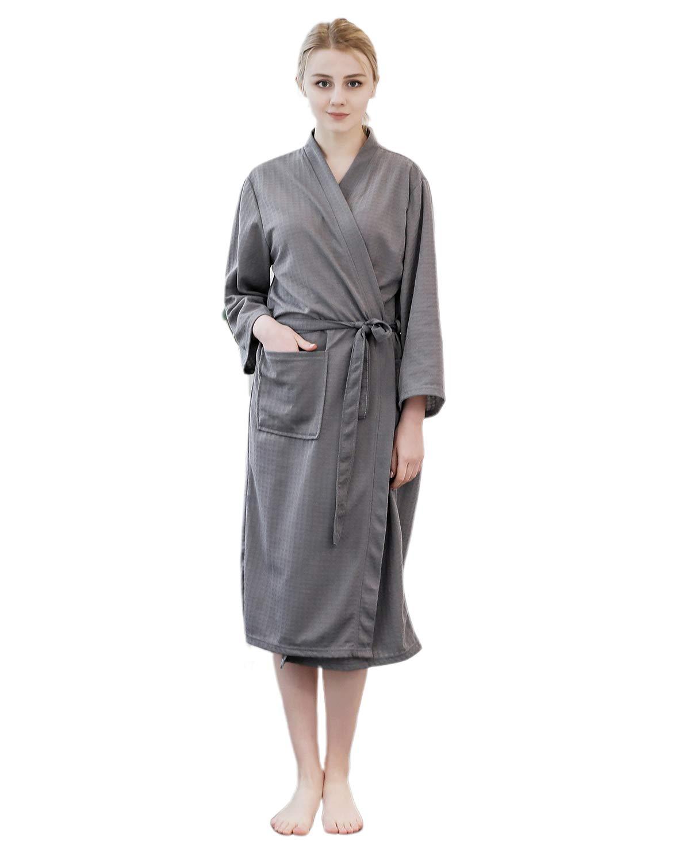 SUNNYME Women Kimono Robes Cotton Lightweight Bathrobe Soft Sleepwear Loungewear