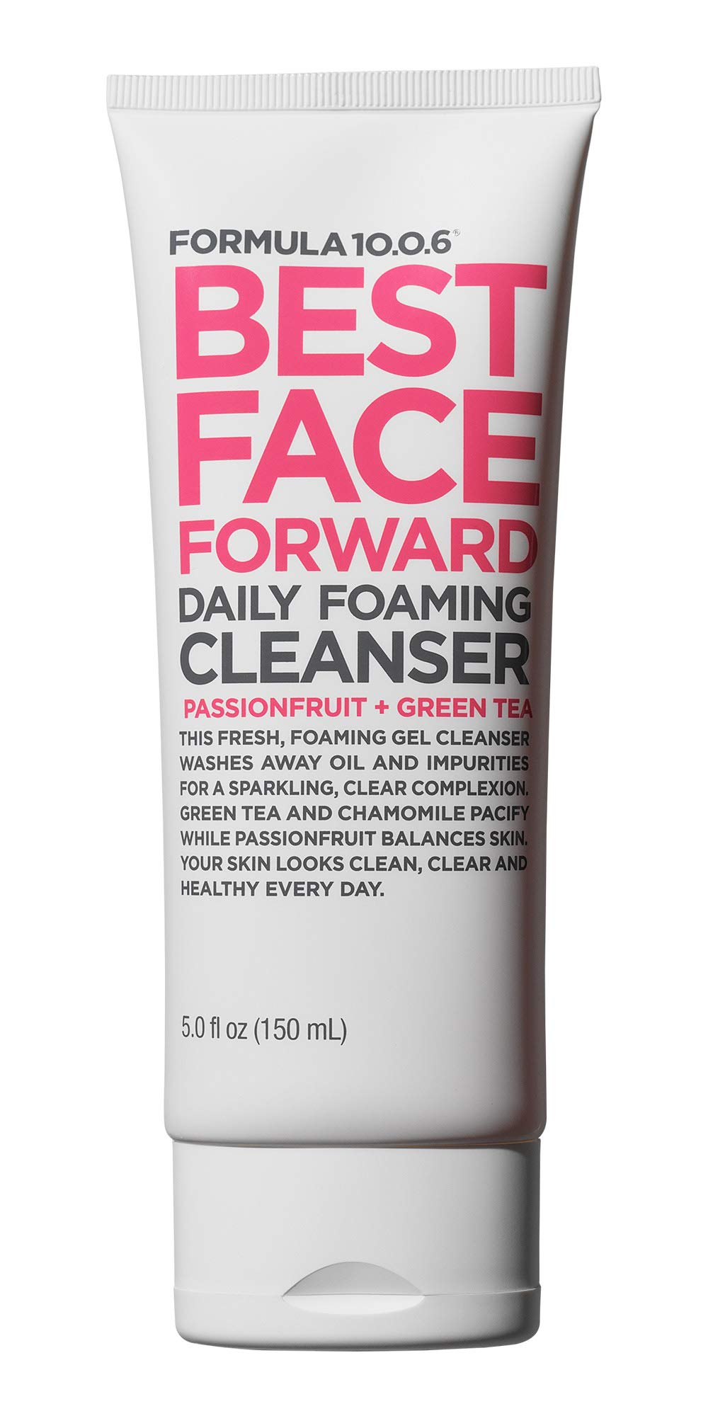 Formula 10.0.6 Best Face Forward (5 fl. Oz.) Daily Foaming Gel Cleanser that Washes Away Oil & Impurities - Vegan, Paraben-Free, Cruelty-Free