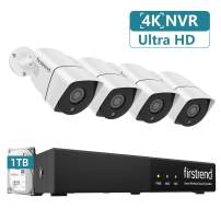 Security Camera System 5MP PoE Home Security System with 4PCS 4MP PoE IP Cameras Plug and Play PoE NVR System with 1TB Hard Drive Free APP and Night Vision