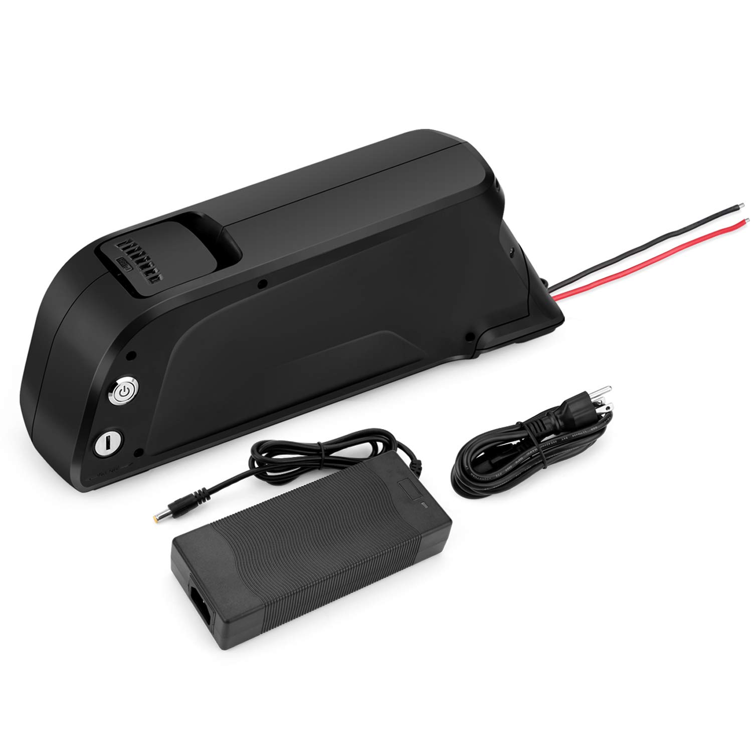 Sunbond EBike Battery 48V 11.6AH Lithium ion Rechargeable Battery with USB Port (Black), with Charger, Electric Bicycle Battery Pack Electric Bicycle Battery, Motorcycle Bicycle Batteries