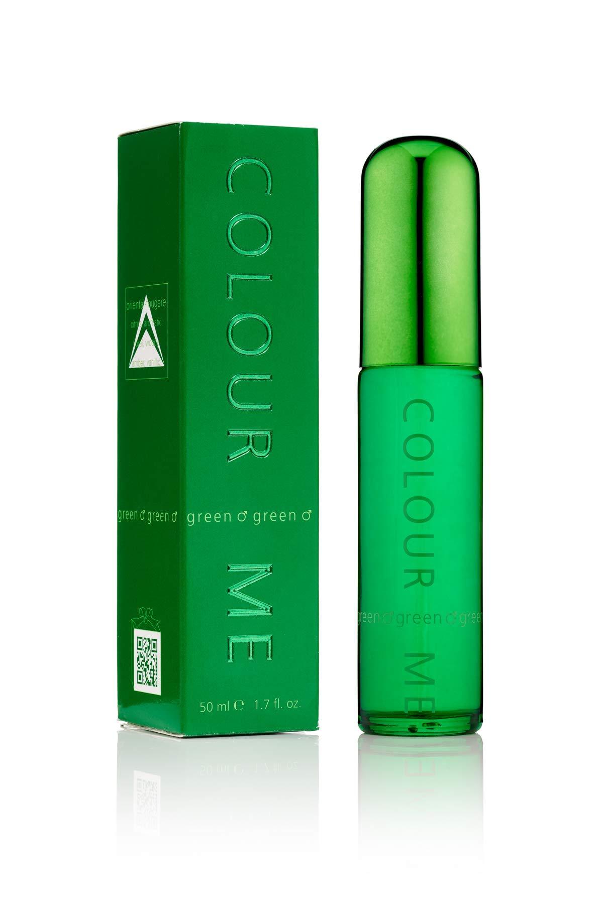Colour Me | Green | Eau de Toilette | Fragrance Spray for Men | Oriental Fougere Scent | 1.7 oz