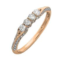 0.50 Carat (ctw) 10K Gold Round Diamond Ladies Anniversary Wedding Band Stackable Ring 1/2 CT