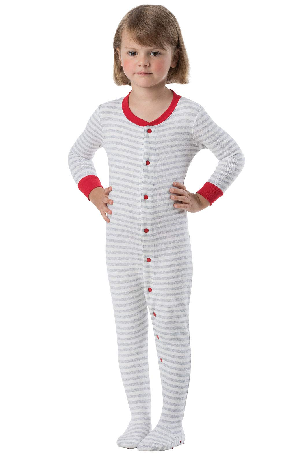 PajamaGram Cotton Dropseat Footie Onesie Pajamas for Toddler and Infant