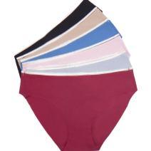 Walant Womens Ice Silk Briefs Seamless Low Waist Panties T-Underwear (Pack of 6)