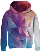 AIDEAONE Boys Girls Novetly Hoodies 3D Print Warm Plush Liner Kids Pullover Hooded Sweatshirts with Pockets 5-13 Years