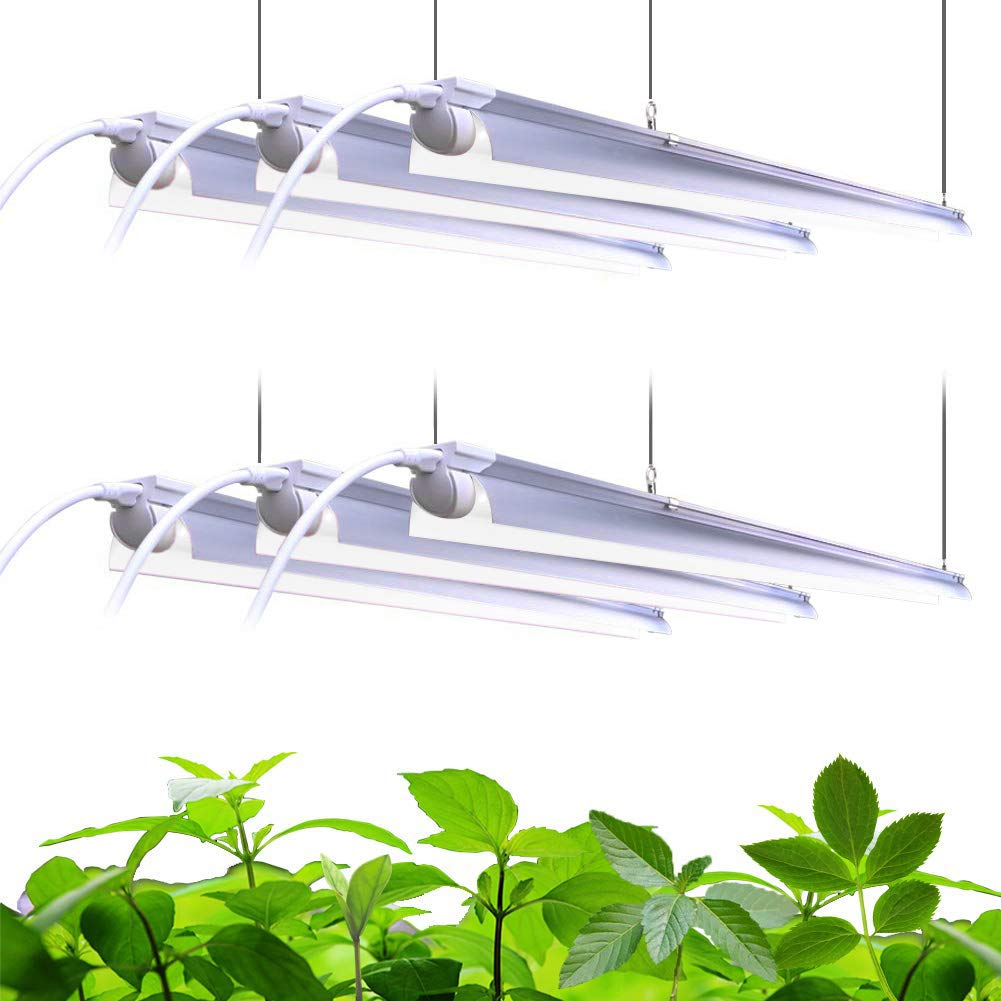 Barrina Plant Grow Light, 252W(6 x 42W, 1400W Equivalent), Full Spectrum, LED Grow Light Strips, T8 Integrated Growing Lamp Fixture, Grow Shop Light, with ON/Off Switch, 6-Pack
