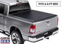 """Gator ETX Soft Roll Up Truck Bed Tonneau Cover   1386954   Fits 2019 - 2020 New Body Style Ram 1500 (New Body Style) Does Not Fit With Multi-Function (Split) Tailgate 6'4"""" Bed Bed   Made in the USA"""