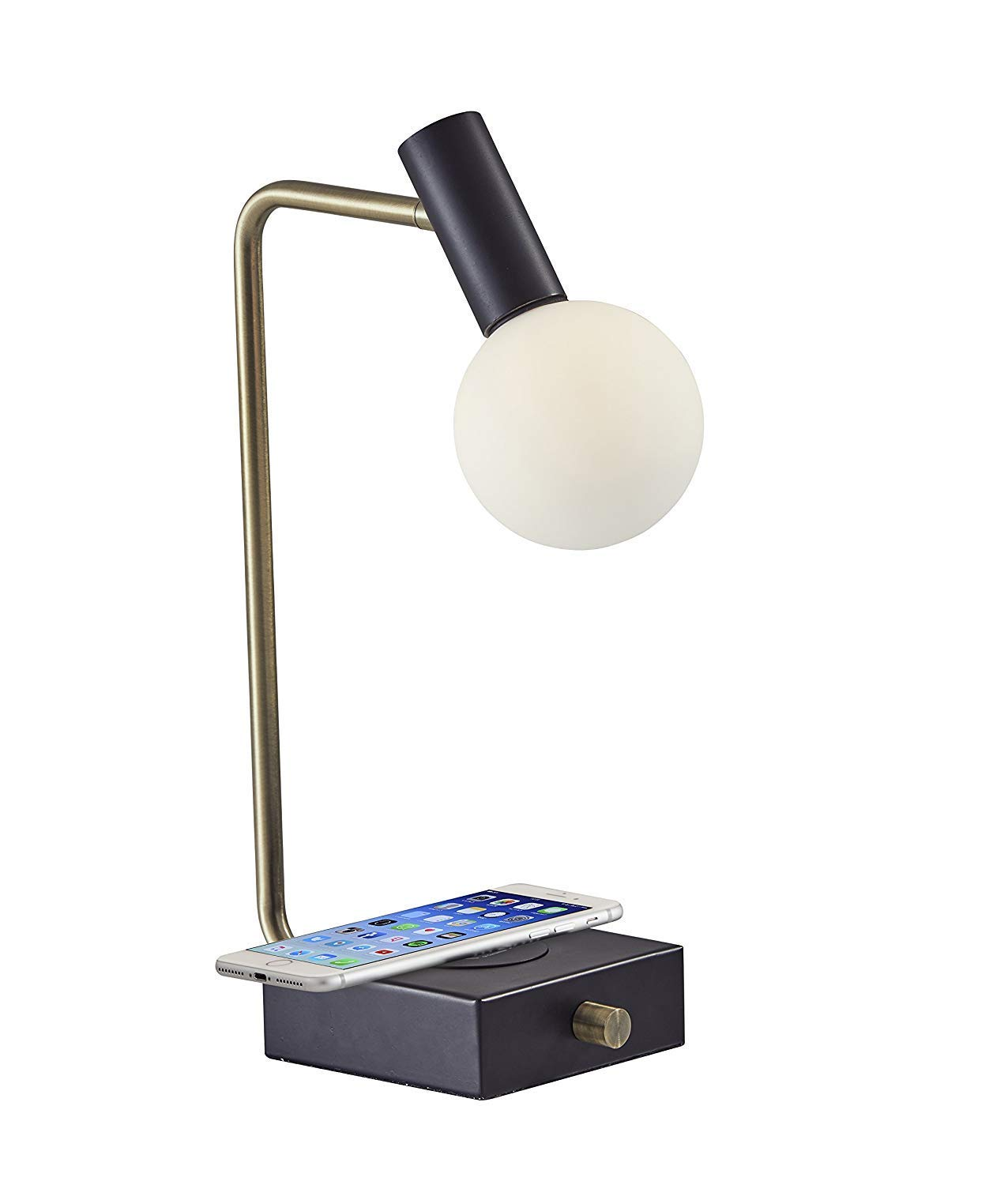 LED Desk Lamp with Bluetooth Speaker Study Lamp for Kids with Memory Function Touch Control Wireless Table Lamp Bedside Lamp Office Lamp with Phone Holder//USB Charging Port
