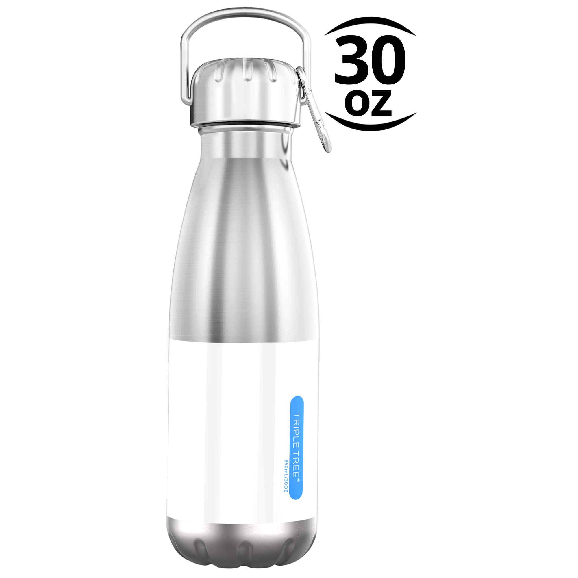 TRIPLE TREE Vacuum Insulated Stainless Steel Water Bottle-Scratch Resistance & Eco-Friendly for Outdoor Sports, 850 ML/ 30 OZ Double Walled Construction Bottle