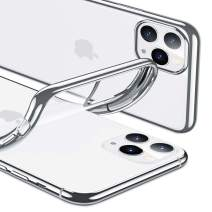 ESR Essential Zero for iPhone 11 Pro Case, Slim Clear Soft TPU, Flexible Silicone Cover for iPhone 11 Pro 5.8-Inch (2019), Silver Frame