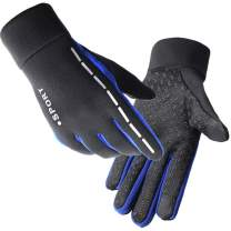 Hetto Running Gloves Touchscreen Light Antislip Reflective for Women Men Spring and Autumn Liner Gloves Cycling Gloves…
