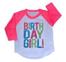 SoRock Birthday Girl Toddler Kids Glitter T-Shirt