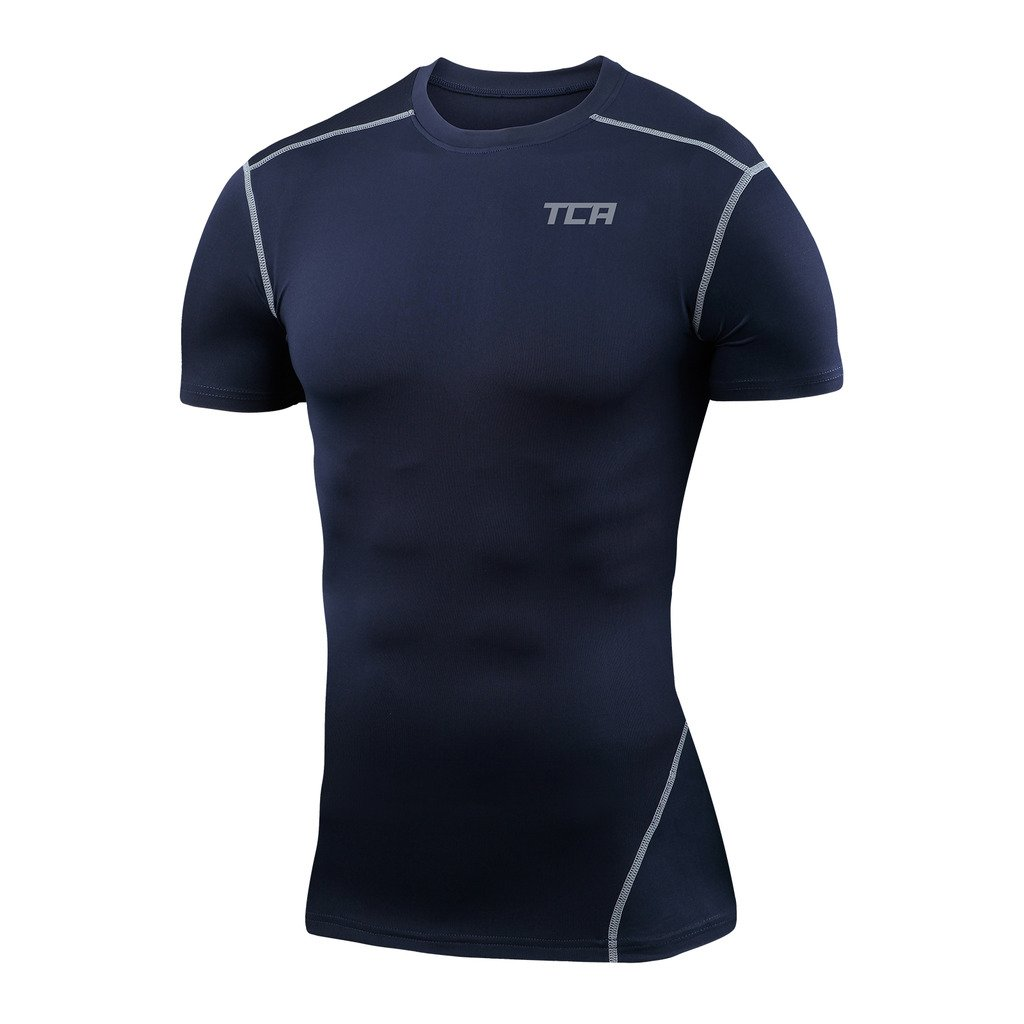 TCA Men's & Boys' Pro Performance Compression Base Layer Short Sleeve Thermal Top