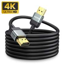 4K HDMI Cable 10ft [Upgraded Anti-Jamming Technology] 18Gbps High Speed HDMI 2.0 Cable, Supports 4K 60Hz HDR 2160P 1080P Ethernet ARC 30AWG 3D, Compatible UHD TV, Blu-ray, X-Box, PS4, PS3, PC