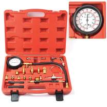 MIKKUPPA 0-140PSI Universal Fuel Pressure Tester Kit, for All Fuel Injection Systems Tester and Most Cars and Trucks World Wide