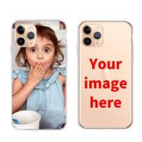 ranipobo Custom Phone Case for iPhone, Personalized Photo Phone Case, Soft Protective TPU Bumper, Customized Cover Add Image Painted Print Text Logo Picture (iPhone 11 Pro)
