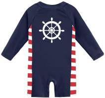 BesserBay Baby Boy's Long Sleeve Swimsuit UPF 50+ Sun Protection One Peice Rash Guard 0-36 Months