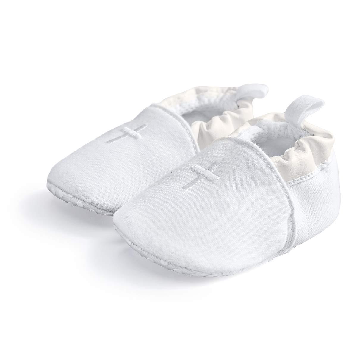 HAPIU Baby Baptism Shoes,Premium Soft Sole Infant Sneaker,Prewalker Shoes,3-6M