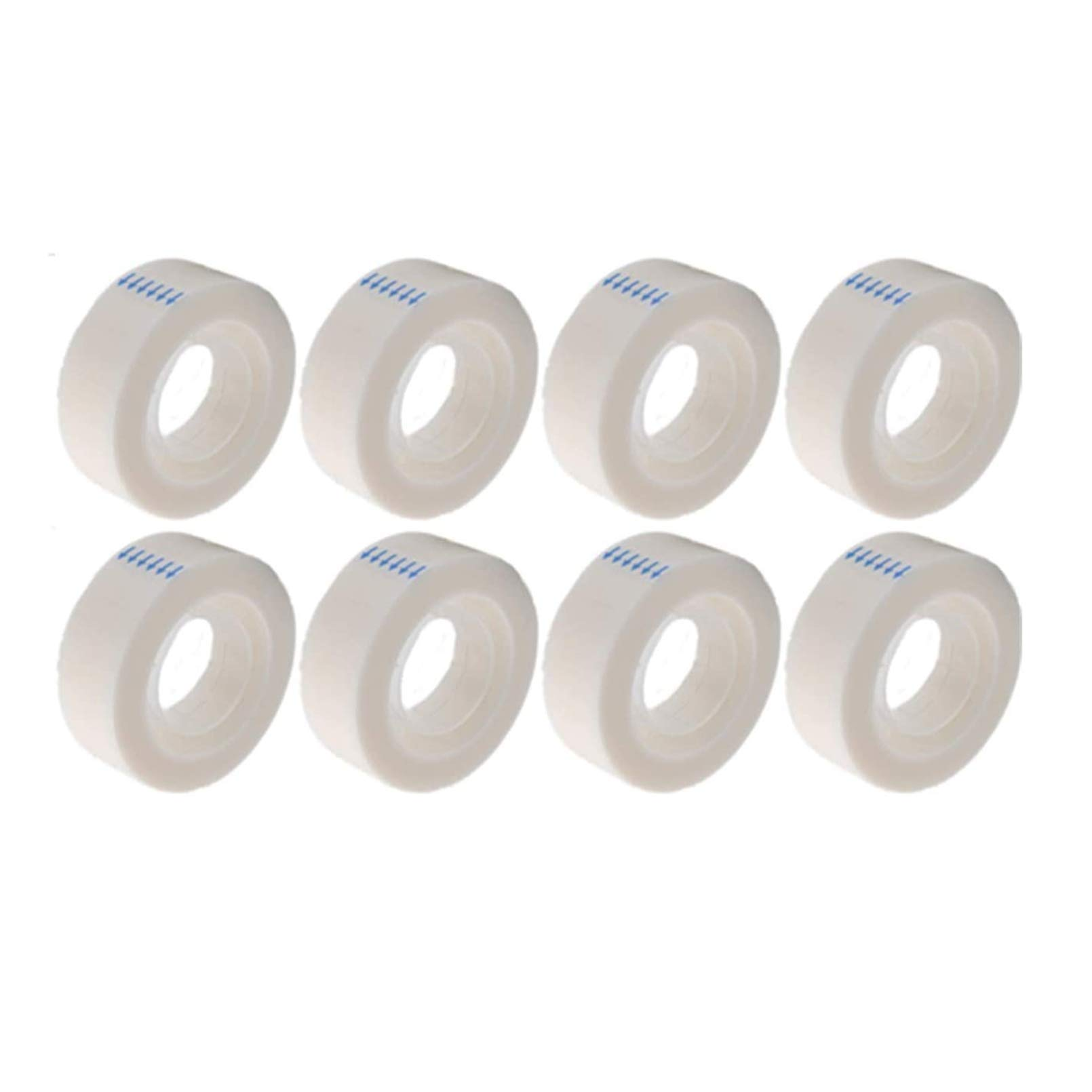 MJUNM 8 Rolls Invisible Tape Matte Tape Repairing Writeable Tape Clear Tape, Transparent Tape Refills for Dispenser, Engineered for Office and Home Use, 3/4 inch x 1000 inch, 1 inch Core