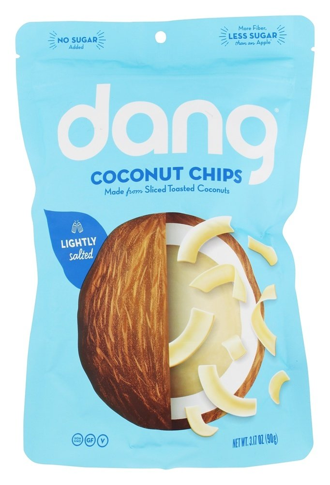 Dang Keto Toasted Coconut Chips   Lightly Salted Unsweetened   1 Pack   Keto Certified, Vegan, Gluten Free, Paleo Friendly, Non GMO, Healthy Snacks Made with Whole Foods   3.17 Oz Resealable Bags