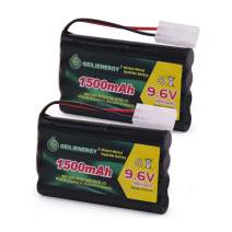 BAOBIAN 9.6V 1500mAh NiMH High Capacity Rechargeable RC Battery with Standard Tamiya Connector for RC Car Boats Robots and OTC Genisys 239180 & EVO Scan Scanner(2 Pack)