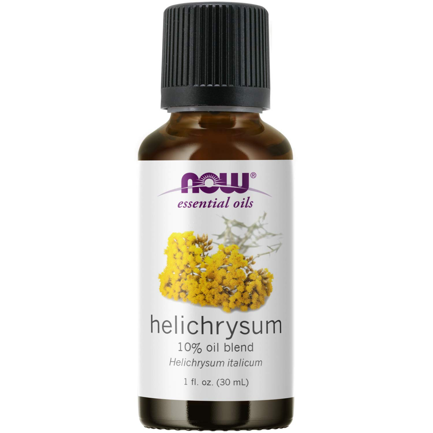 NOW Essential Oils, Helichrysum Oil Blend, Soothing Aromatherapy Scent, Steam Distilled, 100% Pure, Vegan, Child Resistant Cap, 1-Ounce