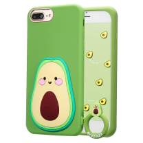 "Coralogo for iPhone 8 Plus/7 Plus/6S Plus/6 Plus Case, 3D Cute Cartoon Funny,Silicone Character Shockproof Kawaii Fun Cover Cases for Girls Teens Kids iPhone 6 Plus/6S Plus/7 Plus/8 Plus 5.5""(Avocado)"