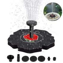 Flantor Solar Birdbath Fountain,1.4W Freestanding Solar Powered Fountain Pump, Solar Fountain for Bird Bath,Outdoor Watering Submersible Pump for Garden,Patio,Fish Tank Aquarium,Small Pond (Black)