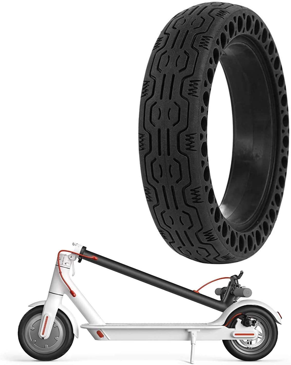 GLDYTIMES FEC 8.5 Inch Solid Tire Honeycomb Wheel Replacement for Electric Scooter Xiaomi Mi m365 / gotrax gxl V2 / Hover-1 Explosion-Proof and Comfortable Scooter Wheel's Replacement