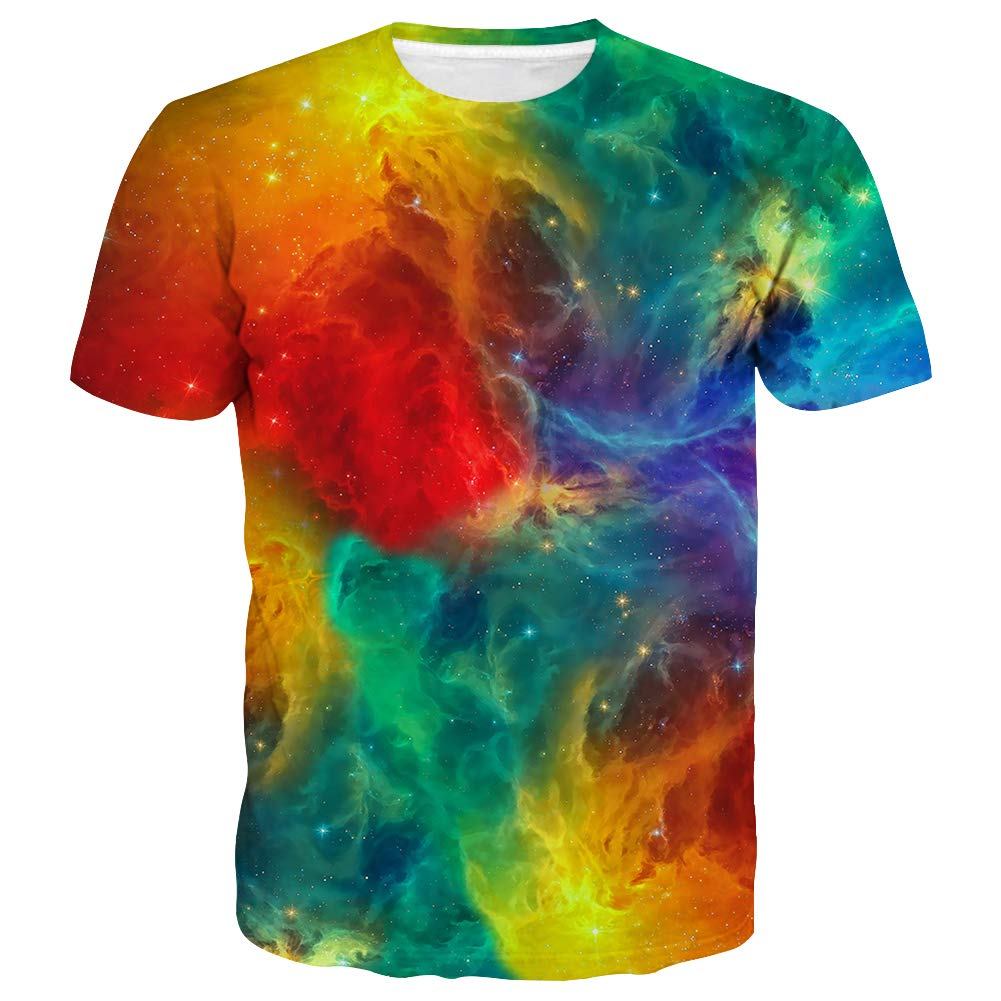 Syaimn Unisex 3D Pattern Printed Short Sleeve T-Shirts Casual Graphics Tees
