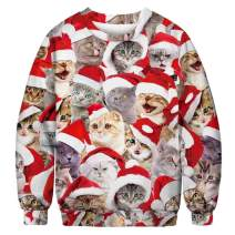 MixShe Ugly Christmas Sweater 3D Digital Printed Cosplay Funny Xmas Pullover Sweatshirt for Men and Women