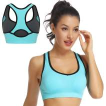 WOWENY Strappy Sports Bra for Women with Removable Cups, Sexy Crisscross Back Medium Support Yoga Bra