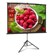 Projector Screen with Stand 110 inch 4:3 HD 4K Portable Indoor Outdoor Movie Screen Foladable Outdoor Projector Screen Pull Up Projector Screen with Stand for Office,Home Theater, Backyard Movie.