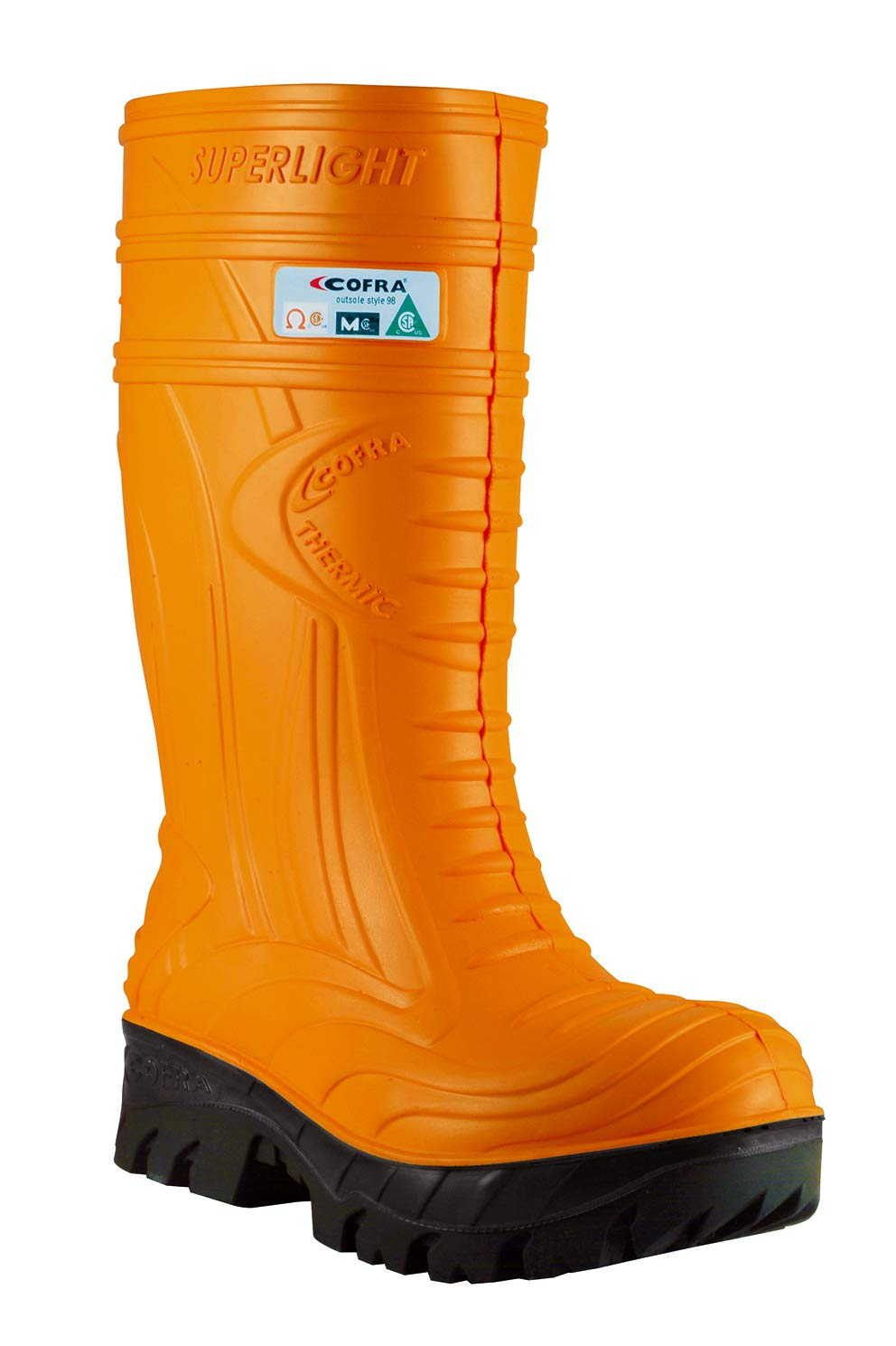 COFRA Waterproof Work Boots - THERMIC Cold Weather Rain Boot with Composite Safety Toe & Slip Resistant Nitrile Outsole