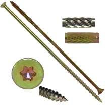 """#15x10"""" Gold Star Wood Screw Torx/Star Drive Head (Full Box - 250 Approx. Screw Count) - Multipurpose Torx/Star Drive Wood Screws"""
