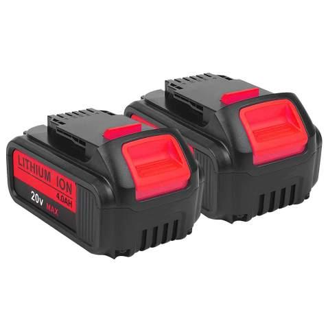 2-Pack 4.0Ah 20V for Dewalt DCB205 Battery, 2Pack Lithium-ion Replacement Battery for Dewalt dcb200 DCB204 DCB207 DCB205-2 DCB180 DCD985B DCD771C2 DCS355D1 DCD790B Cordless Power Tools