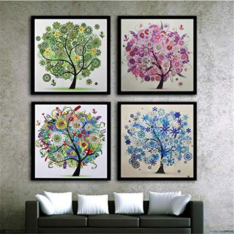 5D DIY Diamond Painting Full Round Drill Kits Picture Art Craft for Home Wall Decor 30x30cm Sweet Home