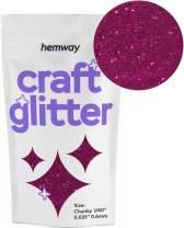 "Hemway Craft Glitter 100g 3.5oz Chunky 1/40"" 0.025"" 0.6MM (Dark Rose)"