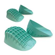 Tuli's Heavy Duty Heel Cups (2-Pairs), Green - Pro Heel Cup Shock Absorption and Cushion Inserts for Plantar Fasciitis, Sever's Disease and Heel Pain Relief, Regular