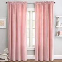 jinchan Pink Curtains Velvet Drapes Bedroom Window Curtains 95 Inch Long Living Room Rod Pocket Window Treatment Set 2 Panels