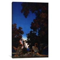 """iCanvasART 1-Piece Land of Make Believe Canvas Print by Maxfield Parrish, 26 by 18""""/1.5"""" Deep"""